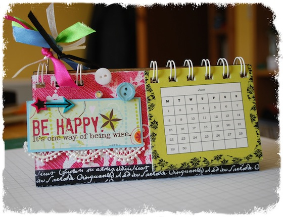 Make Your Own Desk Calendar -Free Craft Class