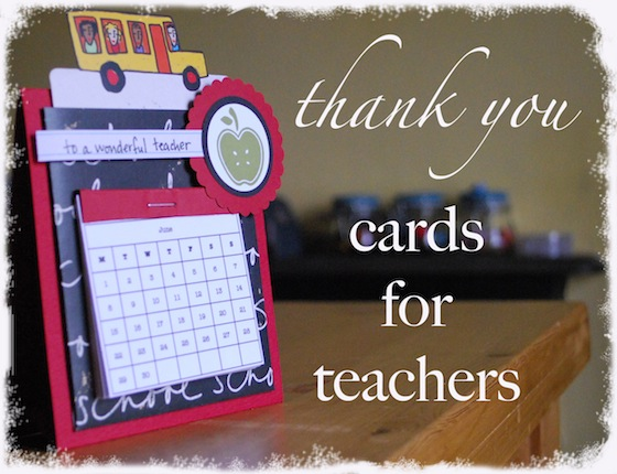 Thank you cards for teachers for Thank you crafts for teachers