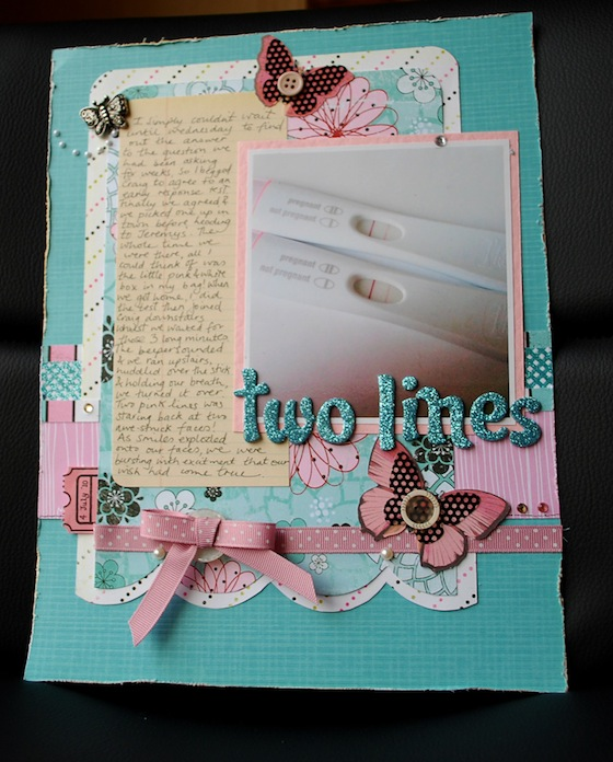 pregnancy scrapbook ideas.