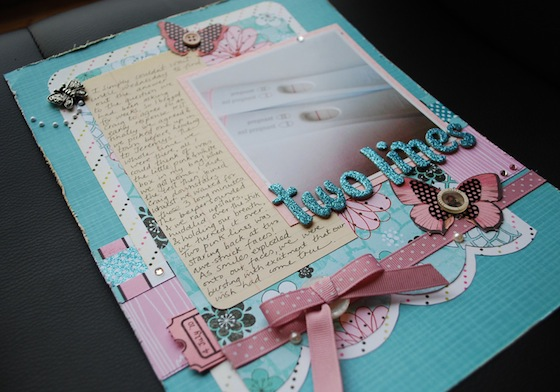 Two Lines Finally A Scrapbook Layout